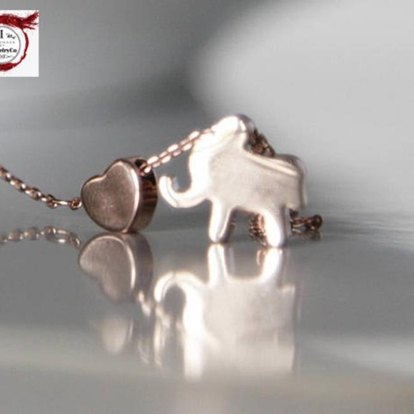 Handmade Jewelry - Elephant & Heart Necklace/bracelet/anklet Handmade